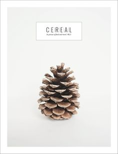"""Cereal (UK) New mag, looks sooo ace! Cereal magazine came out last December and is sold-out (maybe still a few available at some stockists) About: """"Cereal is a new quarterly food and travel magazine. Web Design, Book Design, Layout Design, Print Design, Editorial Layout, Editorial Design, Cereal Magazine, Publication Design, Magazine Design"""