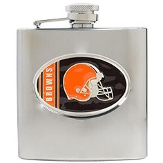 Cleveland Browns Stainless Steel Hip Flask