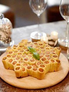 Etoile feuilletée apéritive à la moutarde : Recette d'Etoile feuilletée apéritive à la moutarde - Marmiton