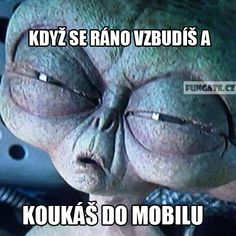 Když se ráno vzbudíš a Funny Images, Funny Pictures, Story Quotes, Monday Motivation, True Stories, I Laughed, Haha, Comedy, Jokes