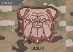Bulldog Head Morale Patch - Desert - Express your individuality with our collection of Morale Patches, Embroidered Patches, Velcro Morale Patches, Tactical Morale Patches, Military Morale Patches, and Humorous Morale Patches! Put them on all of your gear: Hats, Jacket, Fleece, Vests, and Backpacks! Get it at http://zuffel.com/collections/morale-patches/products/bulldog-head-desert