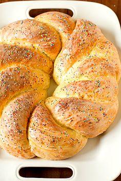 Nana Latona's Italian Easter Bread Recipe Yield: 2 huge loaves or Easter Bread Recipe, Easter Recipes, Holiday Recipes, Anise Bread Recipe, Italian Easter Bread, Italian Bread, Bread Recipes, Cooking Recipes, Breakfast And Brunch