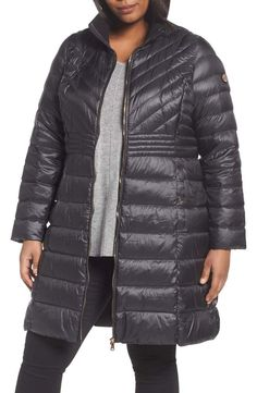 The Must Have Plus Size Winter Coats You Want To Rock Now! BERNARDO Down & PrimaLoft®️ Plus Size Coat at Nordstrom