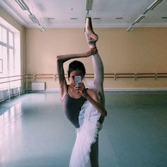 """ Vaganova student Daria Ionova. from her ig. """