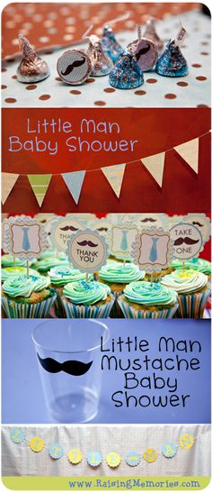 Little Man Mustache Baby Shower from www.RaisingMemories.com