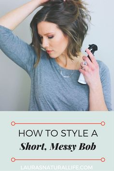 How I Style My Short Hair Using Only Natural & Organic Styling Products, 1 Curling Iron. Only takes 5 minutes! Click through to learn how...