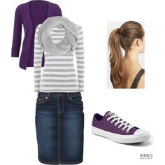 """""""Purple & Stripes and Everything Nice"""" by lars0901 on Polyvore"""