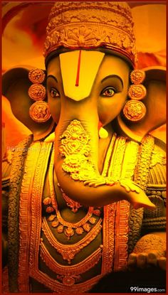 New Cute Lord Ganesha Smiley Wallpaper. Most Famous And Popular Lord Ganesha or bappa wallpaper. Wallpaper by WaoFam. Shri Ganesh Images, Hanuman Images, Ganesha Pictures, Lord Krishna Images, Ganesh Wallpaper, Sai Baba Hd Wallpaper, Wallpaper Wallpapers, Full Hd Wallpaper Android, Dope Wallpapers
