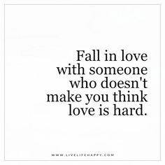 Fall in Love with Someone Who Doesn't Make You