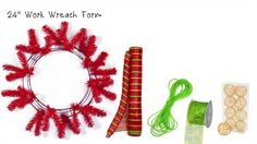 Deco Mesh Christmas Wreath with Wire Balls on Vimeo