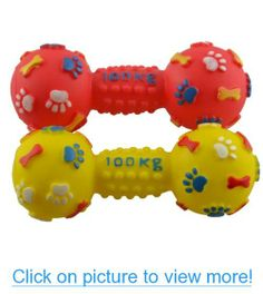 Dogloveit Pet Puppy Cat Dog Toys Small Dumbell with Paw Print Rubber Toy for Pet Dog Cat with Sound Squeaker Squeaky Toys for Pet Dog Cat - Random Color Pet Puppy, Pet Dogs, Dog Cat, Pets, Dog Toys, Pet Supplies, Puppies, Random, Pictures