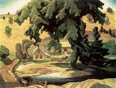 Franklin Carmichael, Canadian Farm, Haliburton, Group of Seven Group Of Seven Artists, Group Of Seven Paintings, Emily Carr, Maurice Denis, Paul Cézanne, Edouard Vuillard, Canadian Painters, Canadian Artists, Paul Gauguin