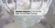 This recipe for icing is so simple. If you can boil water you can make this icing. Great for topping cakes, cookies, cupcakes and more. Simplest icing ever.