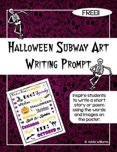 FREE Halloween Subway Art Writing Prompt