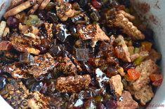 Tort de biscuiti cu ciocolata si fructe confiate (de post) - CAIETUL CU RETETE Kung Pao Chicken, Ethnic Recipes