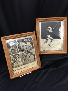LOT INCLUDES A PAIR OF AUTOGRAPHED 8X10 GLOSSY PHOTOS OF PHILADELPHIA EAGLES QUARTERBACK RON JAWORSKI AND WIDE RECEIVER MIKE QUICK. SIGNED IN BLACK AND GREEN MARKER. BOTH SHOW WATER DAMAGE