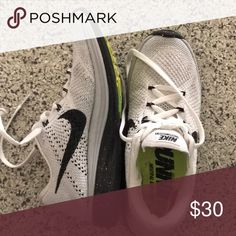 2a51a5877d4a7 Nike women s flyknit lunar 3 white 9 (7.5 8) These already ran small