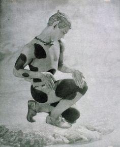 """Vaslav Nijinsky in """"L'Aprés-Midi d'un Faune"""" by Claude Debussy , by Adolf de Gayne de Meyer, 1912"""