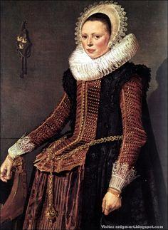 Frans Hals, Femme à la grande chaine de vie, 1618-1620, Kassel