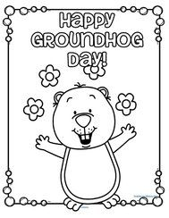 Vibrant image throughout groundhog day coloring pages free printable