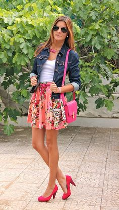 falda floreada