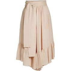 See by Chloé Waist Tie Culottes ($250) ❤ liked on Polyvore featuring pants, capris, pink, tie waist pants, boho trousers, boho pants, pink trousers and bohemian style pants