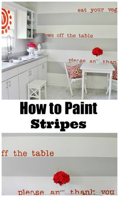 #HOWTO paint stripes #DIY #Doityourself #project #like #greatideas