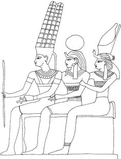 Coloriage Egypte : dieux