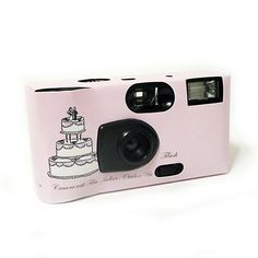 Wedding Cake Disposable Camera (Set of 4). 27-exposure flash cameras loaded with AGFA 400 speed color film. Perfect for indoor and outdoor use. Simply use your cameras and have any photo processor develop the film. Each camera is wrapped individually and comes with it's own table tent instruction card.