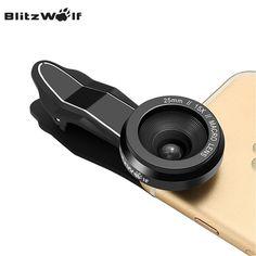 BlitzWolf Camera Lens Optical 15X Macro Lens 25mm Microscope Photography Mobile Phone Lens Kit Clip-on Universal For Smartphone
