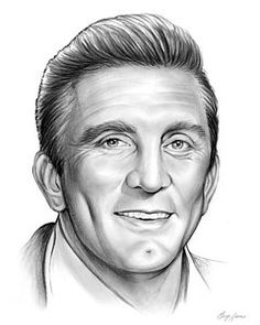 Pencil Portraits - Kirk Douglas by gregchapin. on - Discover The Secrets Of Drawing Realistic Pencil Portraits.Let Me Show You How You Too Can Draw Realistic Pencil Portraits With My Truly Step-by-Step Guide. Celebrity Drawings, Celebrity Portraits, Cool Pencil Drawings, Pencil Art, Westerns, Graphite Art, Star Illustration, Kirk Douglas, Pencil Portrait