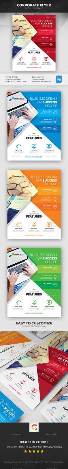 Creative Corporate Flyer Template PSD