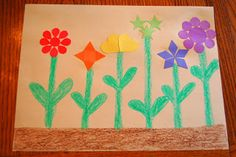 """I HEART CRAFTY THINGS: Storytime """"Planting a Rainbow""""---Making a Rainbow Garden Craft"""