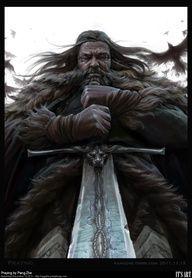 Praying by PangZhe. Fantasy. Warrior. Viking.