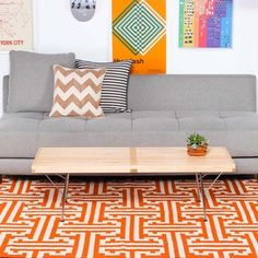 I-Beam Dhurrie 305x245 Orange, 525€, now featured on Fab.