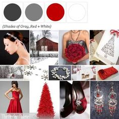 Although I don't care for red, black, and white, I love it when you add Shades of Gray! Black, Gray, Red + White