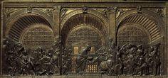 Miracle de l'ânesse de Rimini, 1447-1450, Donatello,  (Padoue, Basilique Saint-Antoine - Altar)