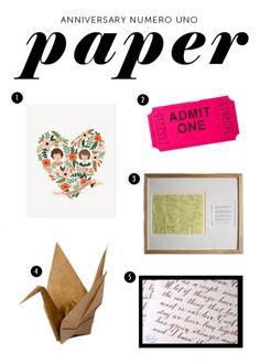 1st paper anniversary gift ideas on pinterest wedding for 1st anniversary paper ideas