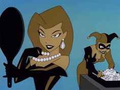 Poison Ivy & Harley Quinn (gif) | Batman: The Animated Series