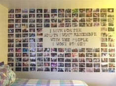 Picture Collage Wall Photo Collage Ideas without Frames 42 Wall Collage without Frames 17 Layout Ideas Diy Room Decor, Bedroom Decor, Bedroom Ideas, Bedroom Photo Walls, Bedroom Colors, Teen Wall Decor, Bedroom Frames, Home Decor, Decoration Photo