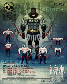 chest exercise: chest flyes giant set - batman