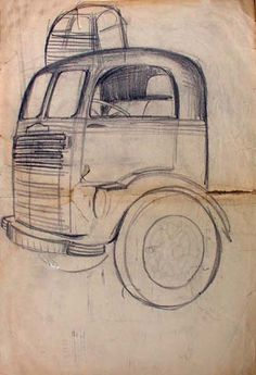 Another Viktor Schreckengost design.  The first cabover truck.  1937 White.