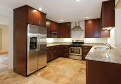 Weaverville North Carolina kitchen renovation features CliqStudios Dayton Cherry Russet cabinets