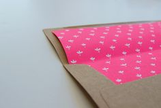 envelope liner diy