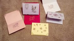 Birthday and thank you  - MS stamps and embossing powder