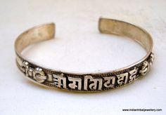silver prayer bangle