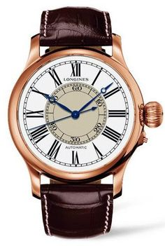 @longineswatches  Weems Second Setting Mens #bezel-fixed #bracelet-strap-alligator  #buckle-type-tang-type-buckle #case-depth-16-15mm #case-material-pink-rose-gold #case-width-47-5mm #delivery-timescale-1-2-weeks #dial-colour-white #gender-mens #l27138110