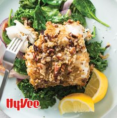 Freekeh-Crusted Cod with Sauteed Greens is a delicious one-dish dinner ready in under an hour.