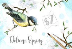 Delicate Spring Set by Eva-Katerina on @creativemarket