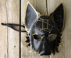 Full Gemini Mystic Wolf Mask with Western Zodiac Symbol and corresponding Constellation, All symbols available! Animal mask, LARP, Halloween You are in the right place about Astrology party decoration Larp, Wolf Maske, Kitsune Maske, Character Inspiration, Character Design, Japanese Mask, Leather Mask, Zodiac Symbols, Animal Masks